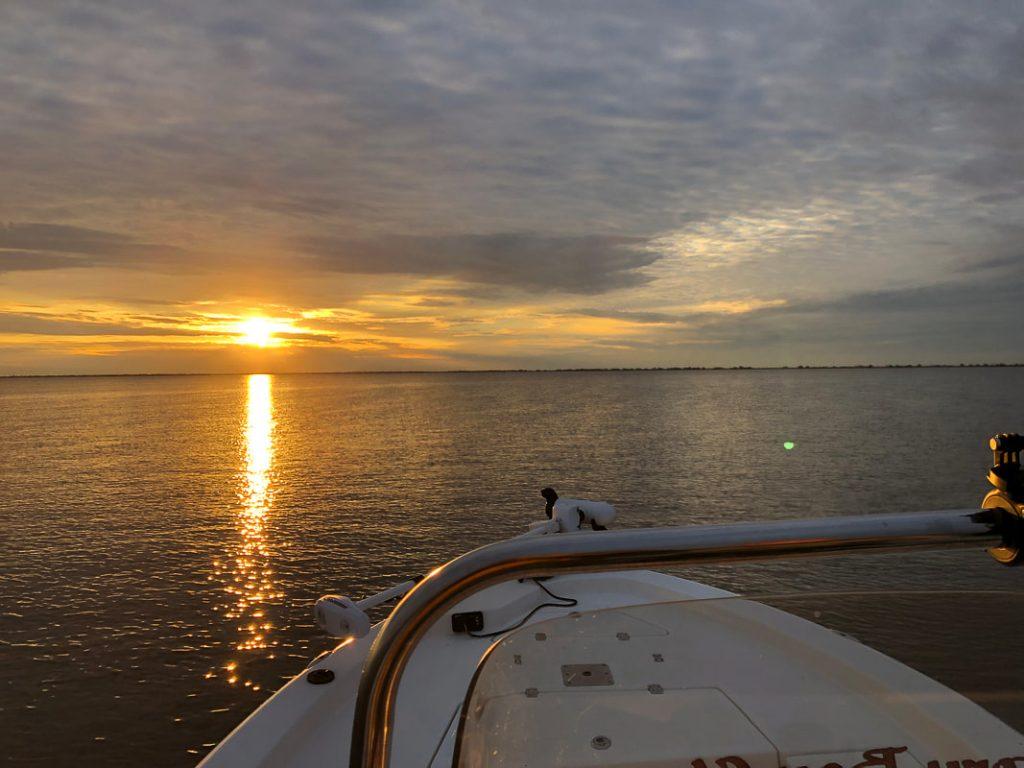 sunset over lake catherine