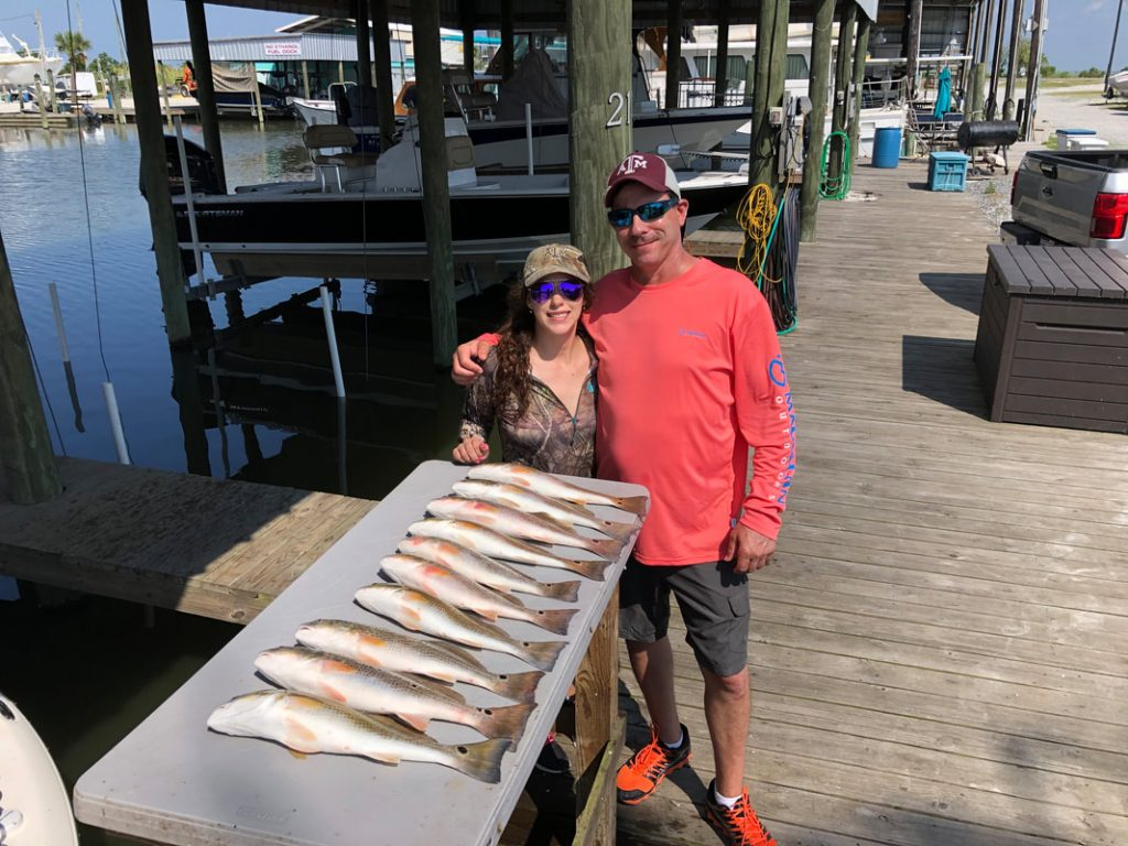 Great Fishing with Charter Victory Bay near Rigolets